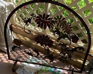#81Hand-Painted Fireplace Screen $40.00