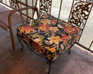 #82Iron Base Square Stool w/cushion  2x2 $40.00