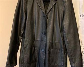 #41size 10 black leather jacket by Exelled $65.00