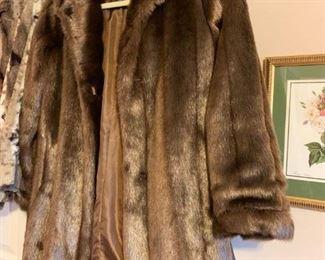 #42Dennis basso size small brown fawe fur short coat  $65.00