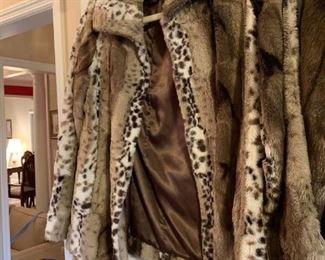 #43Dennis basso size small  leopard fawe fur short coat  $65.00