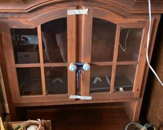 #49hutch with 2 glass doors 43x15x44 $45.00