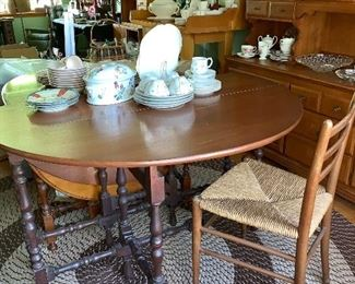 2 drop leaf tables - 1 large and 1 small