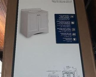 """Brand New 30"""" Glacier Bay vanity combo - Base and Cultured Marble top"""