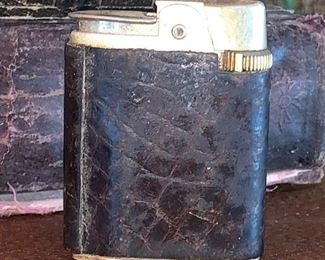 Vintage lighter with leather wrap