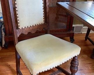 1 of 6 vintage Moroccan/Spanish chairs