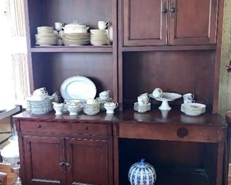 Yeah, I know there are dishes on it but it is a 3 pc office wall unit - 2 of 3 pc set