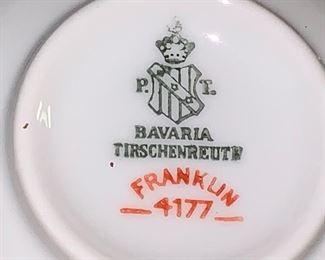 Bavaria TIRSCHENREUTH Franklin dish set