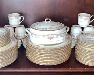 "Noritake bone china ""Barrymore"" pattern dishes"