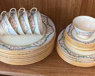 """Royal Adams """"Ivory Titian""""  ware hand-painted plates"""