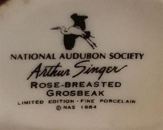 National Audubon Society Arthur Singer  fine porcelain bird figurines – Limited edition