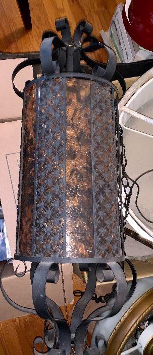 Vintage Wrought iron hanging lamp