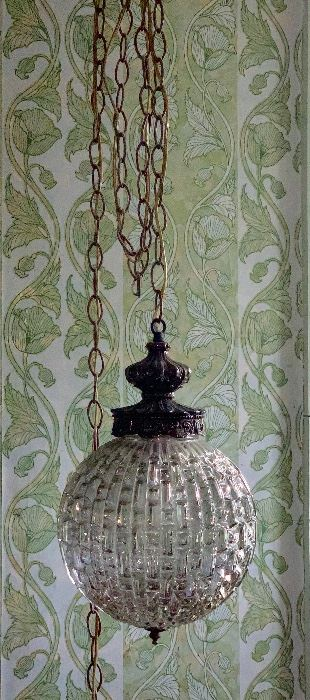 1 of 2 matching vintage hanging lights