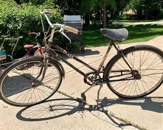 Vintage women's 3 speed Sears bike w/matching men's bike
