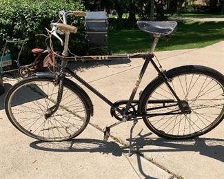 Vintage men's 3 speed Sears bike w/matching women's bike