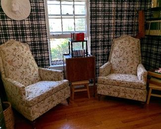 Pair of lovely upholstered Easy Chairs
