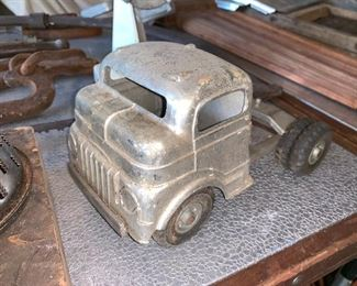 Vintage Structo metal truck- truck cab only