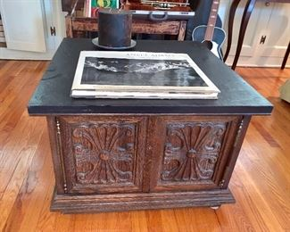 Square console side table