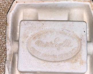 Never Spill - Harry Sanders Co. Art Deco ashtray