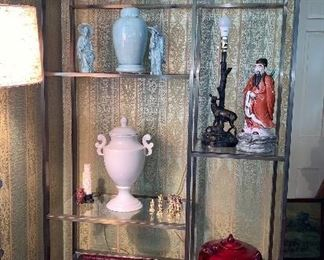 Wow!  Glass and Brass adjustable shelf Display cabinet