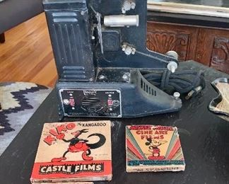 Vintage Projector and Mickey Mouse films