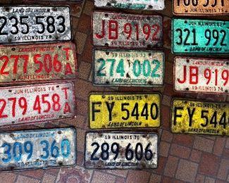 Vintage License plates 1972 - 1984