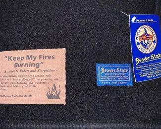"Pendleton Wool blanket ""Keep My Fires Burning"" New"