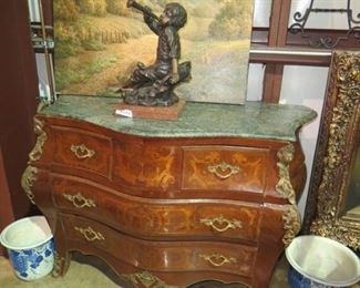 LOUIS X14 COMMODE CHEST  & BRONZE BOY