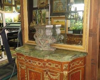 LOUIS X14 CHEST, 50 INCHES WIDE, LARGE MIRROR, MONKEY PLANTER