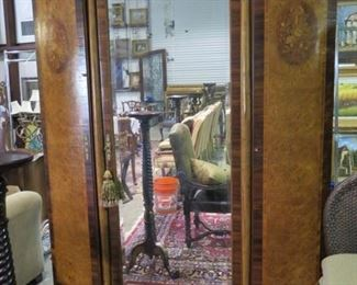 EXTRA LARGE COUNTRY FRENCH OR LOUIS X14 ARMOIRE, WITH MARQUETRY AND BIRDS EYE MAPLE
