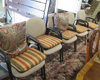 5 HEAVY ARM CHAIRS