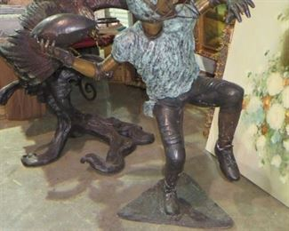 BRONZE SCULPTURE BY RANDOLPH ROSE, 48 INCHES TALL