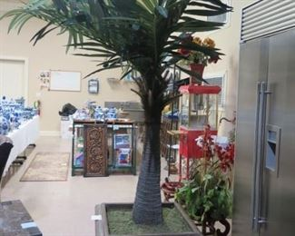 1 OF 2 SAGA PALMS, ABOUT 90 INCHES TALL