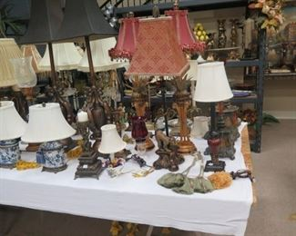 A FEW OF THE APPROX 30 OR SO LAMPS