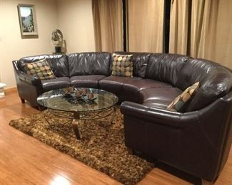 Custom made leather sectional. Very sturdy but comfortable
