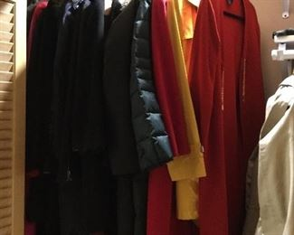 Ladies coats and sweaters. St John, Michael Kors, Calvin Klein etc