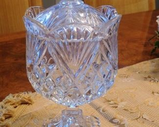 Shannon Crystal Covered Candy Jar