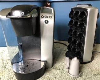 Kreuig coffee maker and Coffee Pod Holder