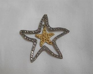 14 k and Sterling Star Pendant
