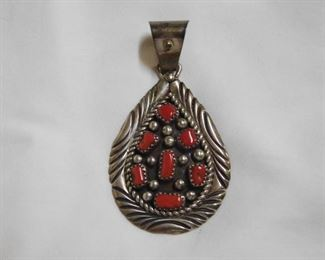 Sterling Coral Pendant