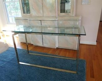 Entry Glass Top Table