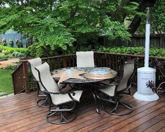Tropitone Patio Table and Four Chairs. Outdoor Heater has Sold.