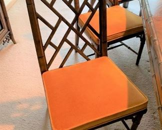 Century furniture Chinese Chippendale side chair.