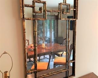 Vintage Chinese Chippendale mirror.