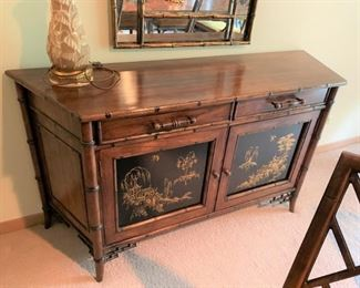 Century furniture elegant Chinese Chippendale style sideboard. Available for pre-sale. Text Patty at 847-772-0404 to inquire or make an offer.