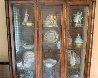 Vintage Century furniture Chinese Chippendale display cabinet. Available for presale. Text Patty at 847-772-0404 to inquire or make an offer.