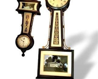 Antique New Haven banjo clocks