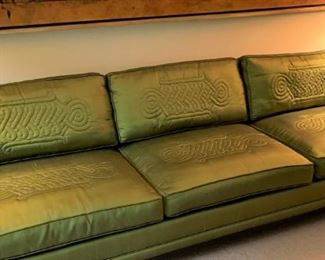 Fabulous silk upholstered Widdicomb sofa!