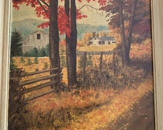 Original oil painting of country scene