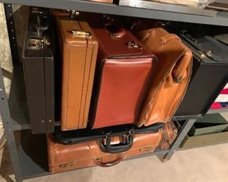 Vintage leather bags.